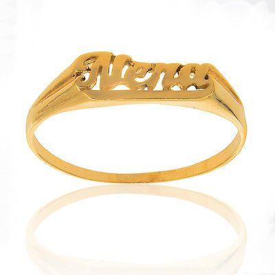 Rings 14K Solid Yellow Gold Baby Girl Nena Children Kids