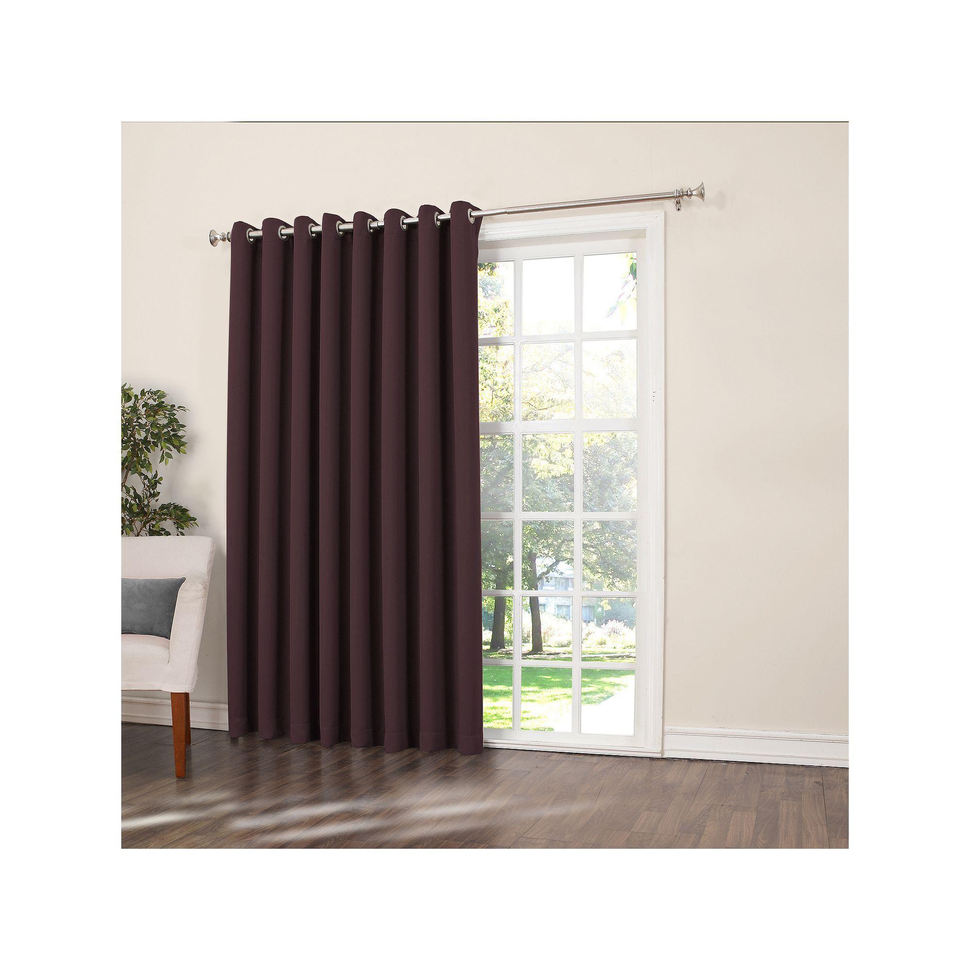 Home window patio door curtain panels grand pointe room darkening - Sun Zero Gramercy Room Darkening Patio Door Window Panel 100 X 84 Blue
