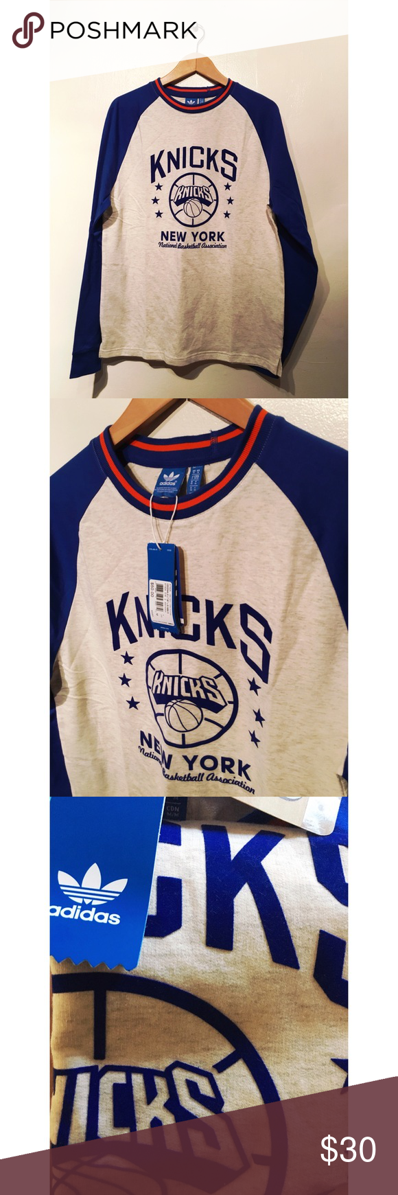 NWT Adidas Adidas 10632 NBA New York manga Knicks camiseta de manga larga NWT   b4cc4b7 - allpoints.host
