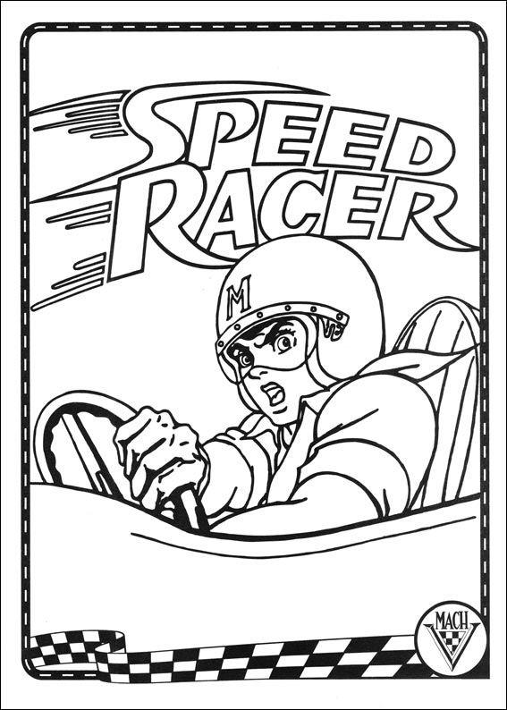 Dibujos para Colorear Speed Racer 36   Dibujos para colorear para ...