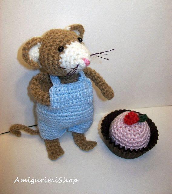 Mouse cake   Amigurumi, Mäuse und Tiere häkeln