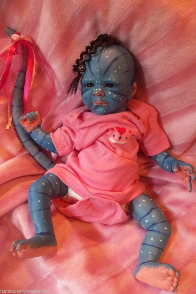 Reborn Avatar Mythical Baby Alien Art Doll Ooak Newborn