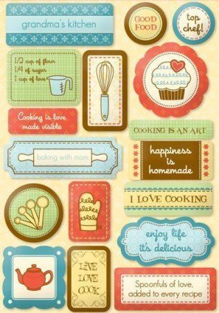 Pin by georgia smart on printables scrapbook recipe book for Planner cucina gratis
