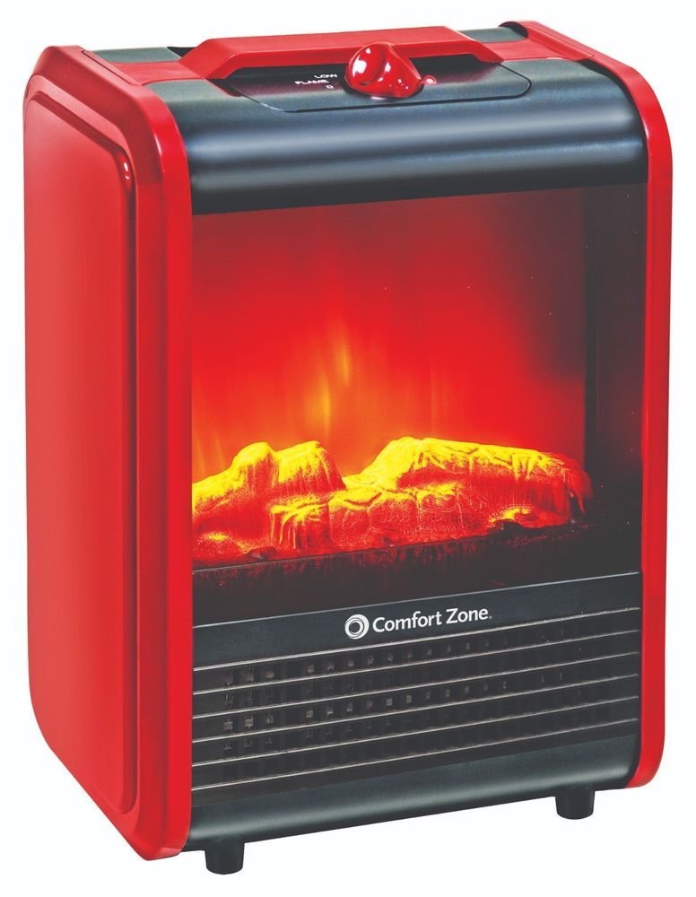 Mini Electric Fireplace Space Heater Red Duel Wattage Comfort Zone Comfortzone Space Heater Fireplace Electric Fireplace Fireplace Heater