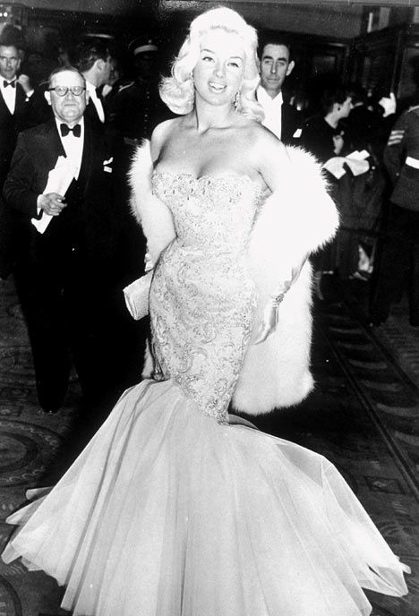 Jayne Mansfield Pink Wedding Dress