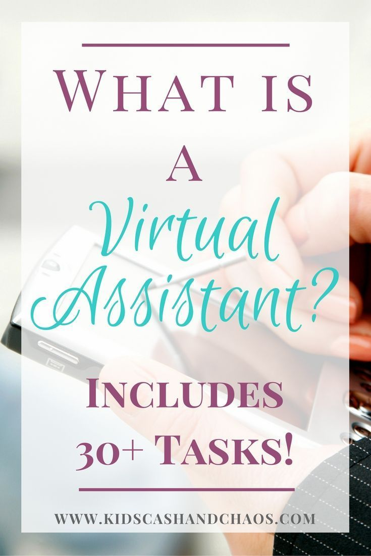 What is a Virtual Assistant? - Kids, Cash and Chao