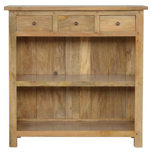Alpen Home Suttle 3 Drawer Solid Wood Bookcase Low Bookcase