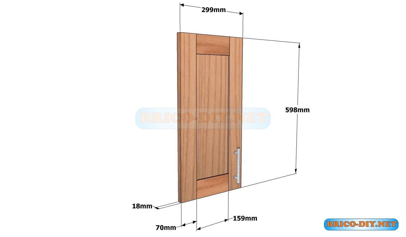 Puerta de madera para mueble de cocina alacena aerea for Alacenas para cocina