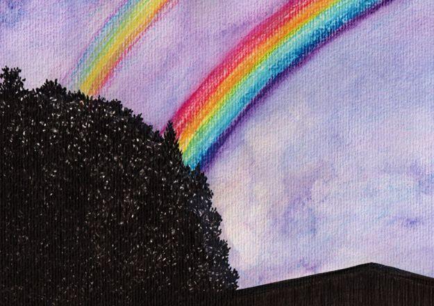 watercolour rainbow - Google Search