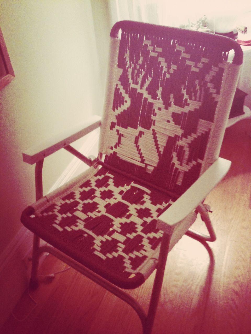 Macrame lawn chairs  macrame  Macrame chairs Macrame