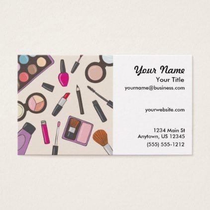Makeup Artist Beautician Business Card Zazzle Com Beautician Business Cards Beauticians Makeup Artist