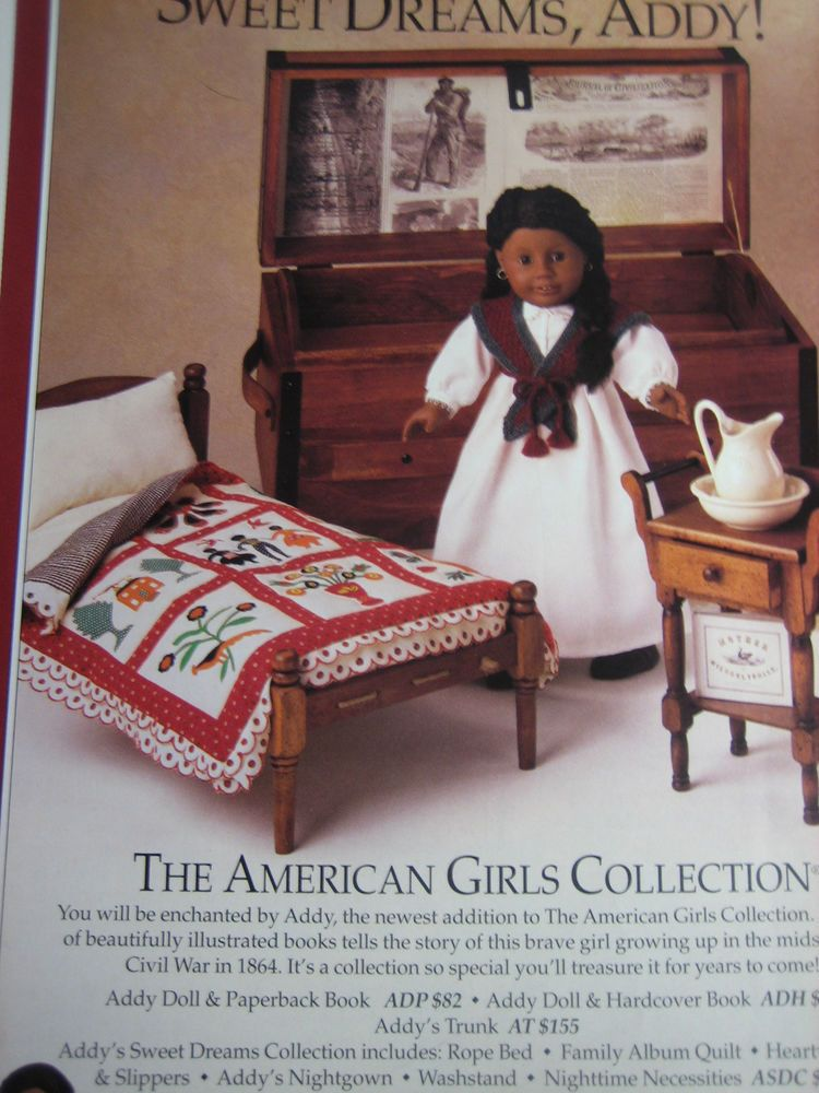 American girl doll addy ad advertisement only american