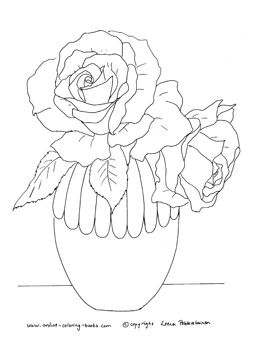 vase of flowers for beginning drawers google search painting templatessketch bookcoloring