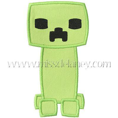 Creeper Applique Design Minecraft Pinterest