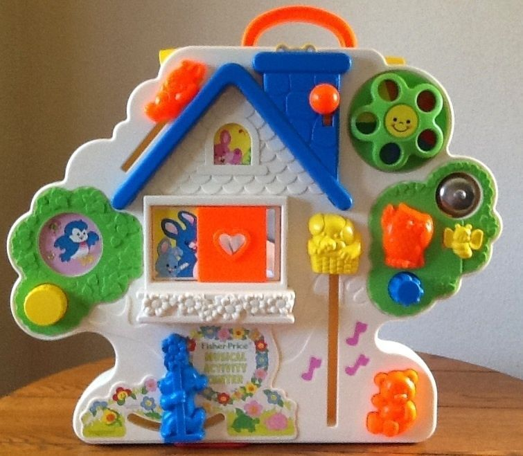 Vintage Busy Box Fisher Price Musical Activity Center 1100 Crib Toy
