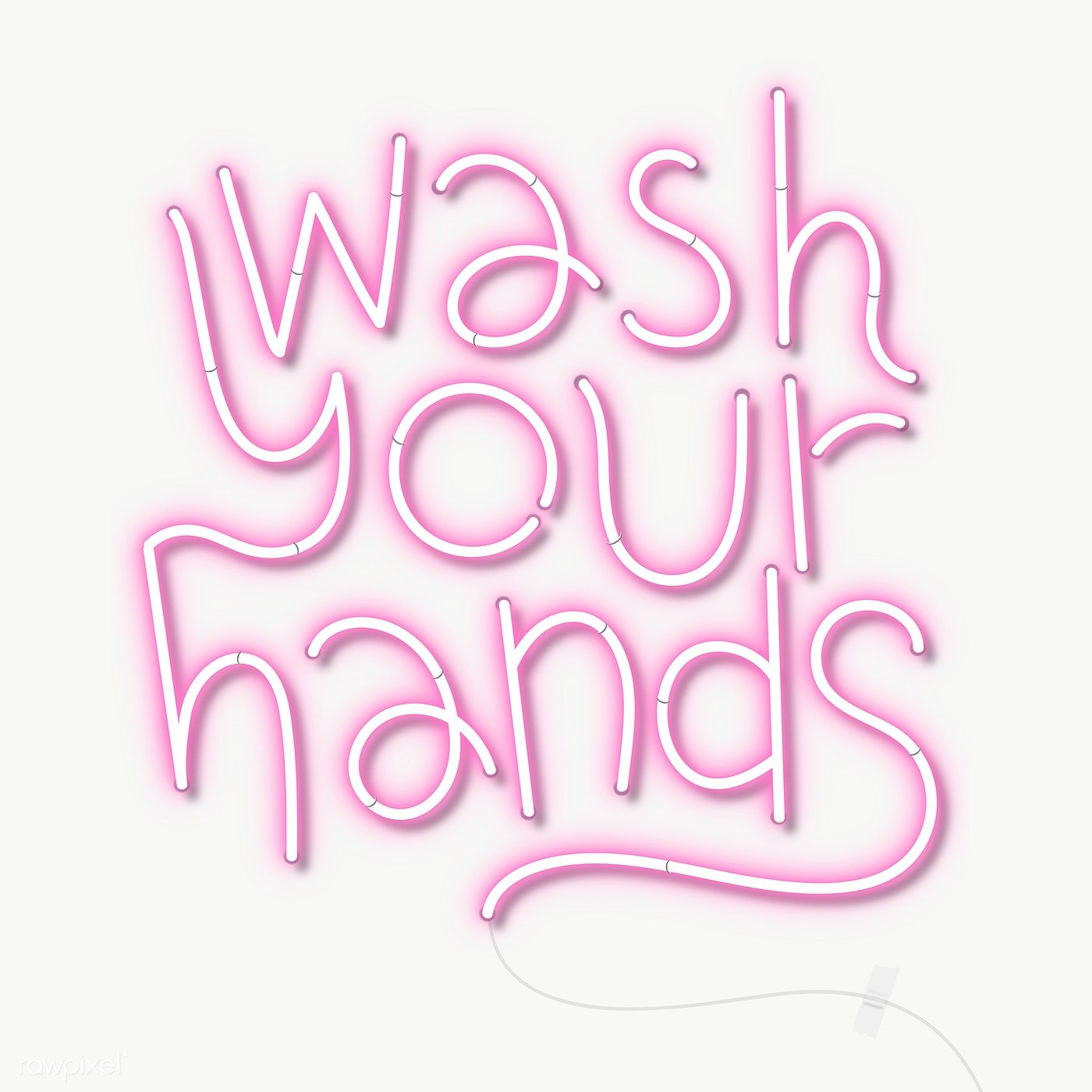 Pink Wash Your Hands Neon Sign Transparent Png Free Image By Rawpixel Com Techi In 2020 Neon Signs Neon Png Font Design Logo