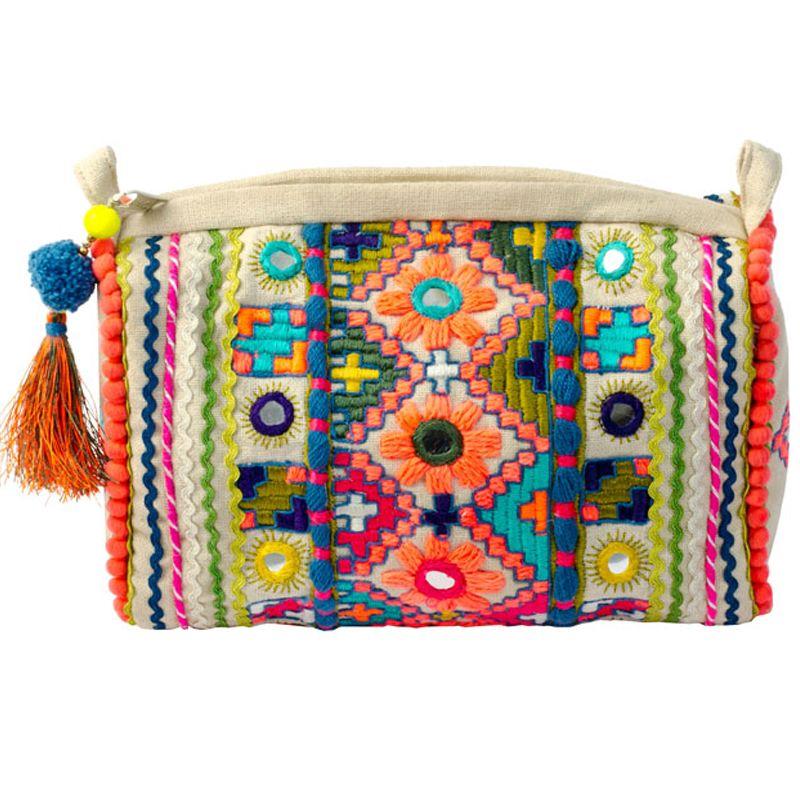 embellished Cosmetic Bag