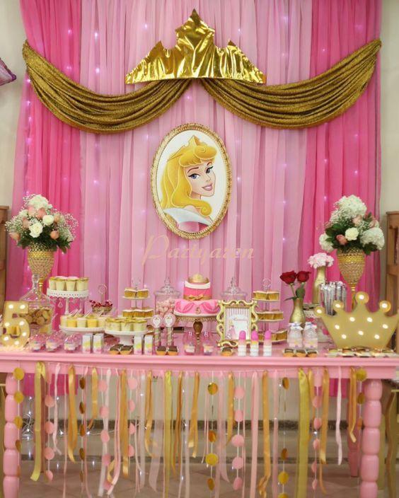 Princesa aurora para cumplea os bella durmiente - Decoracion fiesta princesas disney ...