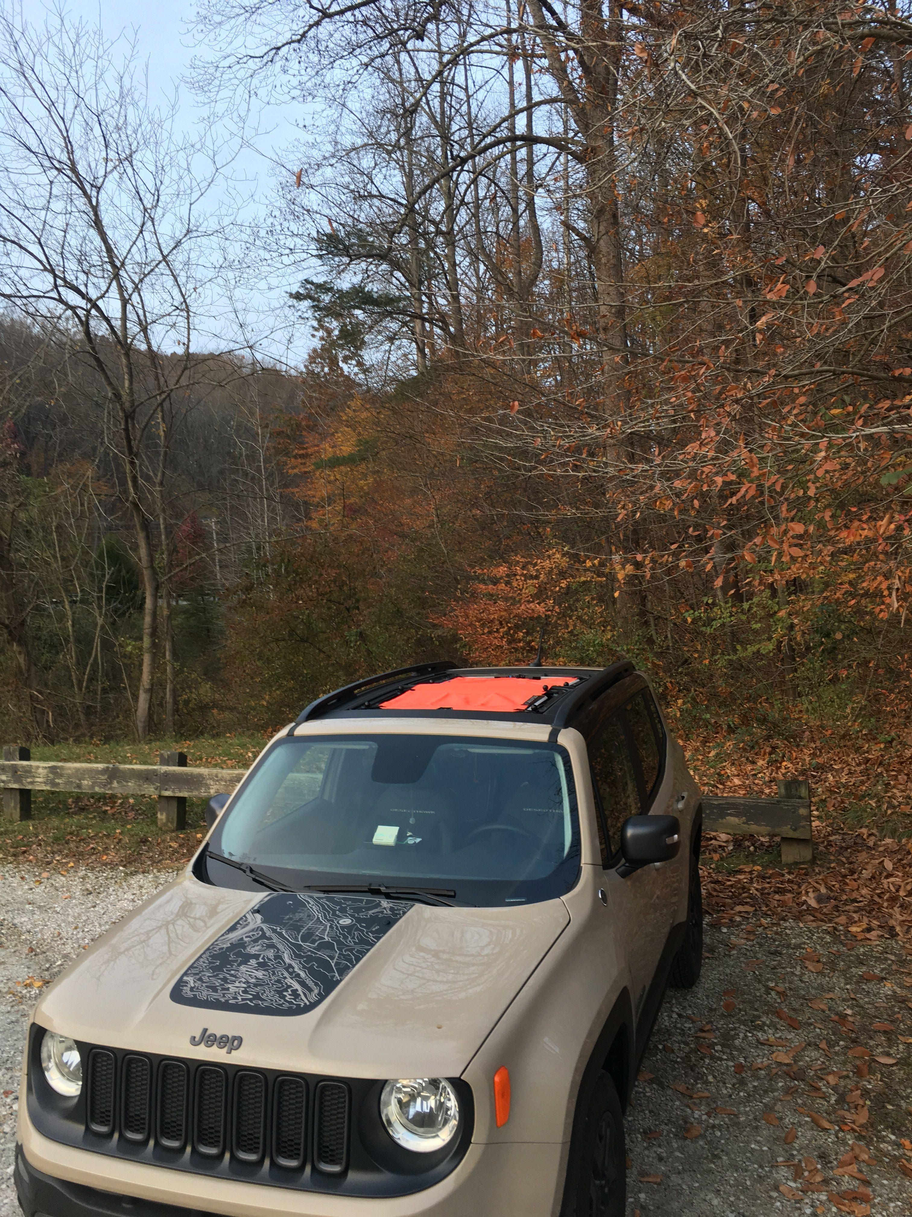 Jeep My Sky : Colored, Renegade, Sunshade, Installed, Customer's, MySky., Reneshade.👽, Renegade,, Jeep,