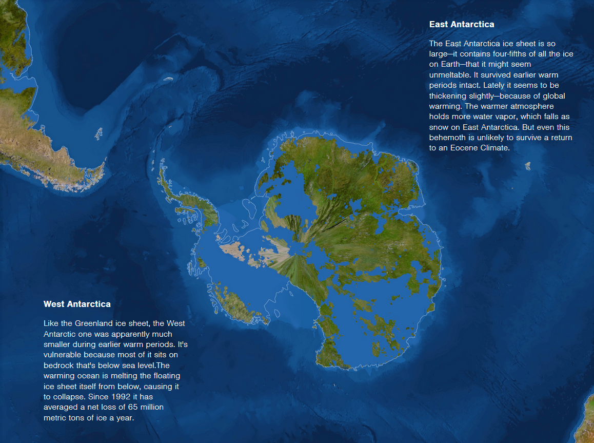 Map Of Sea Level Rise Antarctica Antarctica Cities Threatened By - Sea rising map