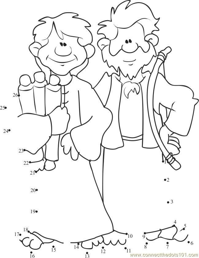 Connect the dots Cain and Abel Two Brothers worksheet, Dot