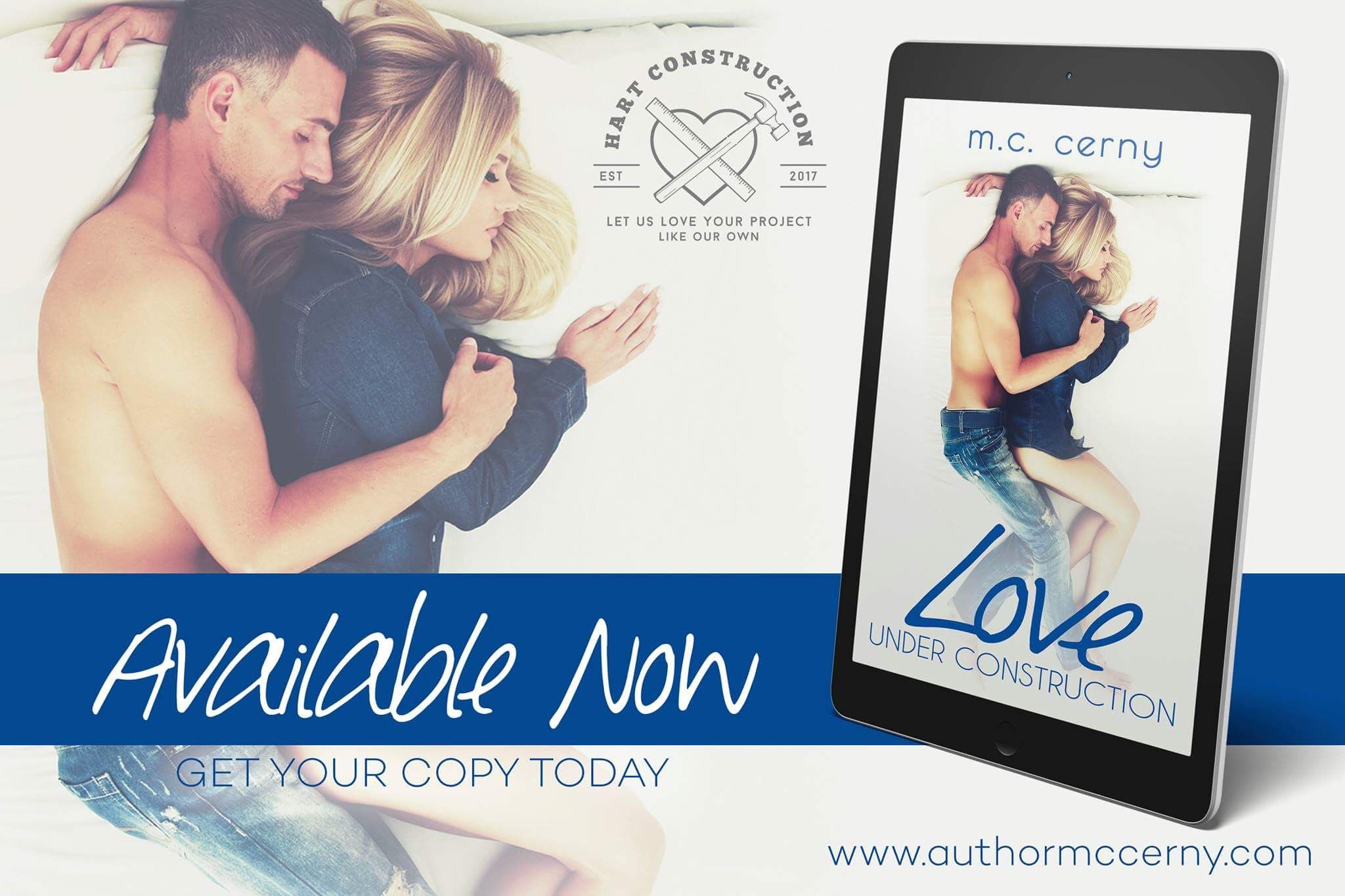 Love Under Construction is live on all platforms.   Amazon: http://amzn.to/2hUKrHq Universal Link: books2read.com/u/bMGlG7 iBooks: http://apple.co/2ixJvf9 Nook: http://bit.ly/2jwf3Av Kobo: http://bit.ly/2jkQPvr