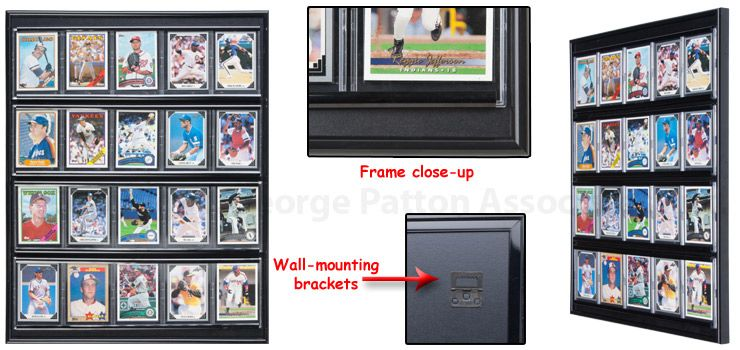 Sports Display Case W 20 Plastic Slide In Sleeves For