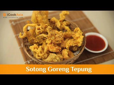 Sotong Goreng Tepung   iCookAsia - YouTube   Makanan