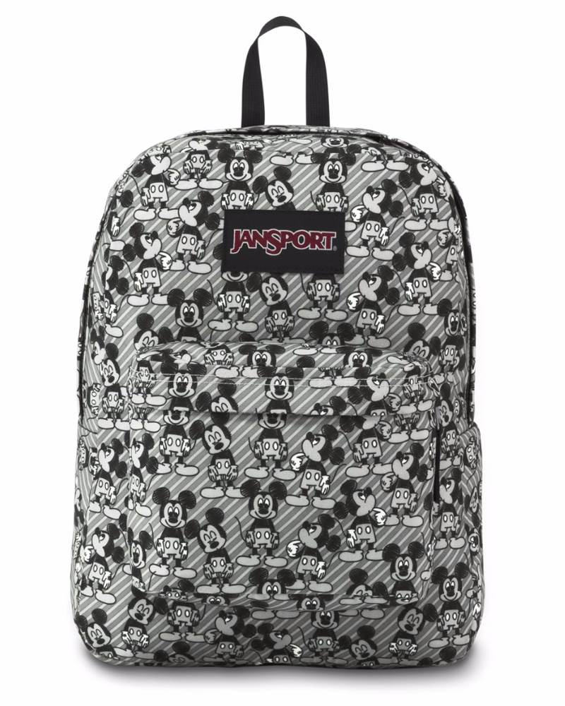 d8ec6ebfaba JanSport Unisex Disney SuperBreak Grey Rabbit Mickey Sketch Backpack ...