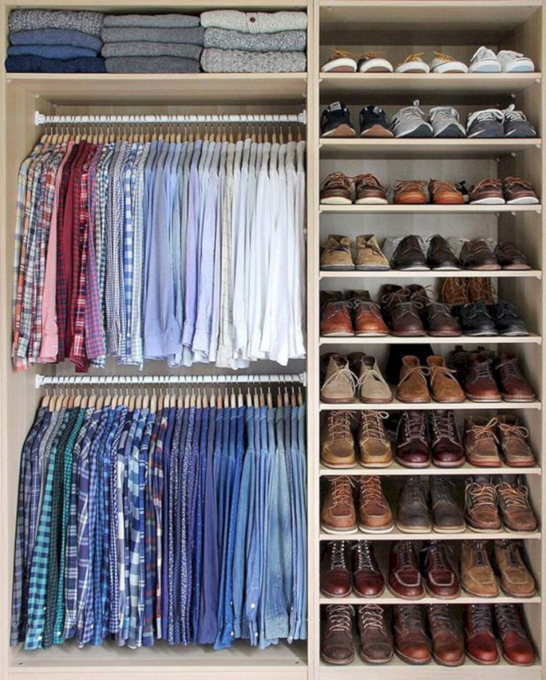 70+ Best Man Closet Design Ideas To Easily Organize   Men closet ...
