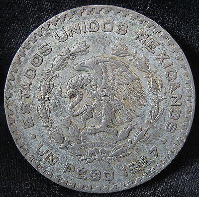 1957 1967 10 Silver Mexican Un Peso Big Old Morelos Silver Dollar