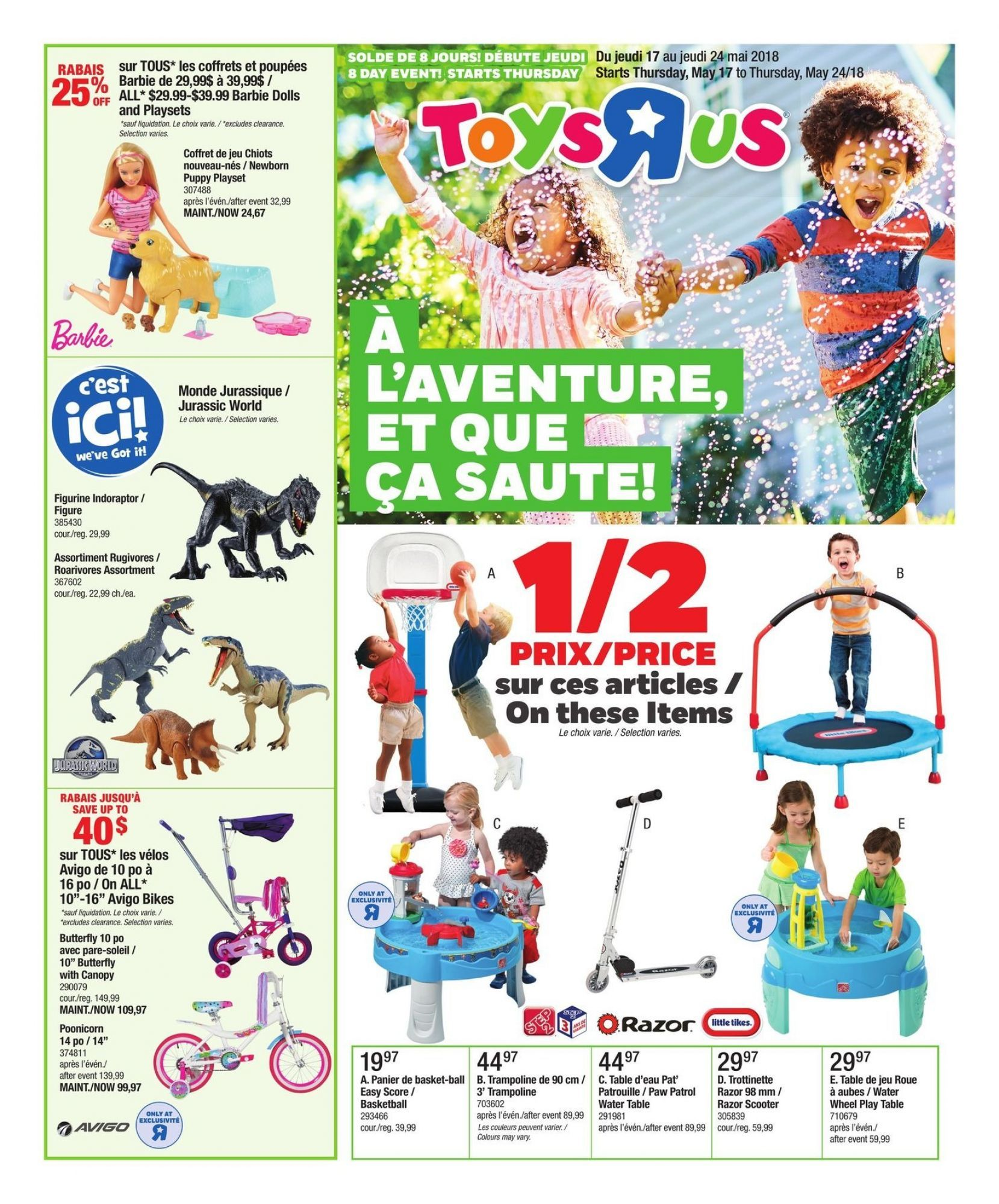Flyer Toys R Us Babies R Us Qc Canada From Thursday May 17 2018 To Thursday May 24 2018 Babies R Us Toys R Us Flyer
