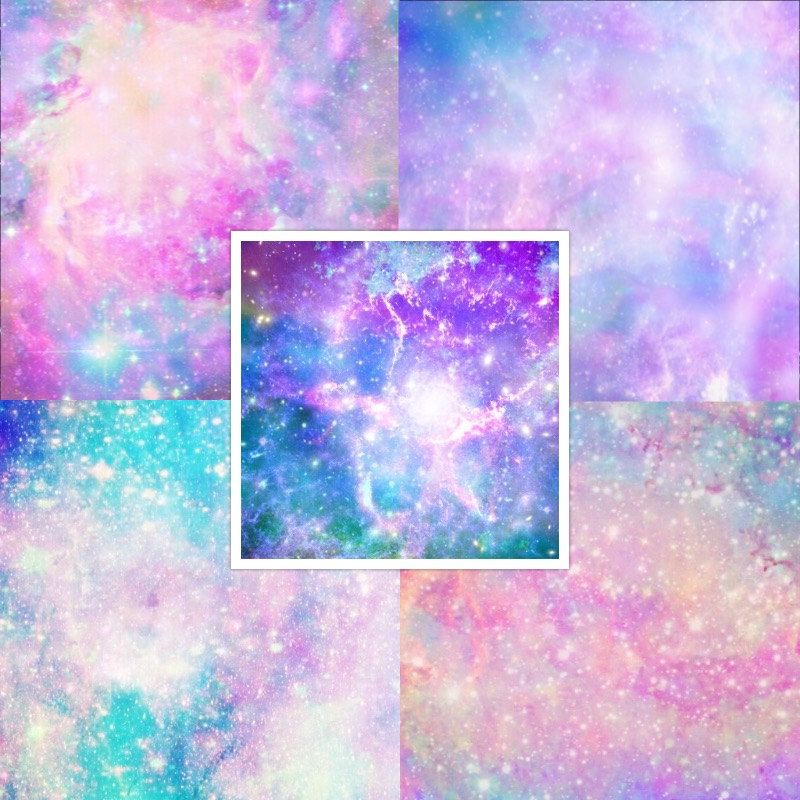 Pastel Galaxy Digital Paper Galaxy Scrapbook Paper Pastel By Ttlgc