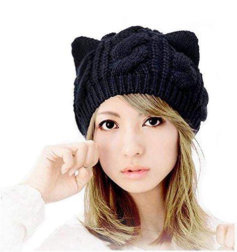 Black Cat Slouch Hat Free Crochet Cat Hat Pattern Persia Lou Crochet Cat Hat Crochet Christmas Hats Cat Ears Hat