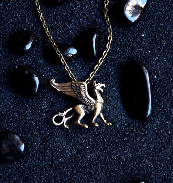 Griffin : Bronze Handmade Pendant with chain
