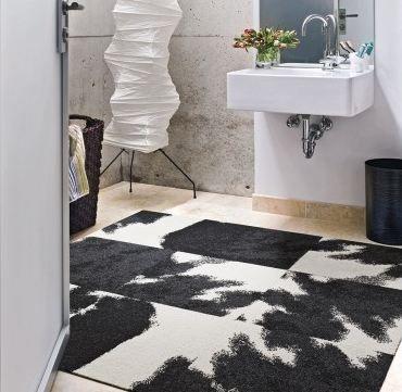 Having Fun With Flooring Design Style Carpet Tiles Black Carpet Cow Rug