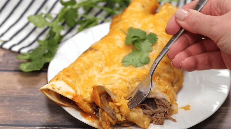 Pressure Cooker Shredded Beef Enchiladas Recipe Shredded Beef Enchiladas Beef Enchiladas Instant Pot Recipes
