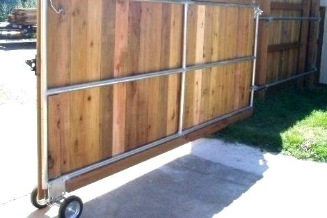 Wood Fence Gate Kit Lowes Sliding For Wooden Large Size Of Rolling