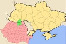 Lage der historischen Bukowina im Verhältnis zu den heutigen Staaten Ukraine, Rumänien und Moldawien