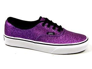 213a97c4193cc1 I love these! ! Sparkly purple vans