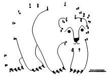 abc polar bear dot to dot activity available at wwwmakinglearningfuncom