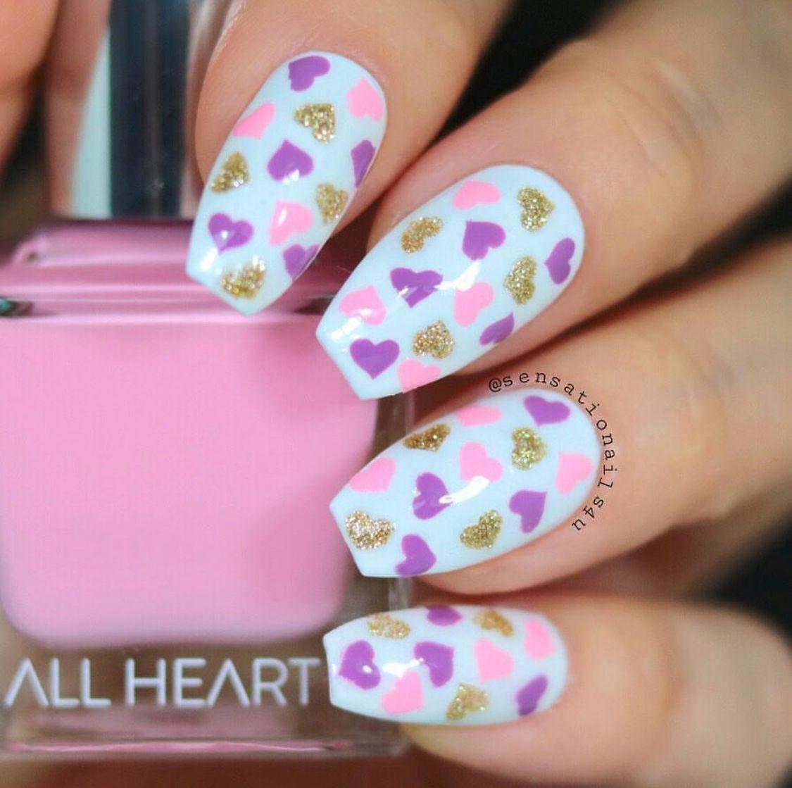 Fun confetti #valentinesday manicure by @sensationails4u using our ...