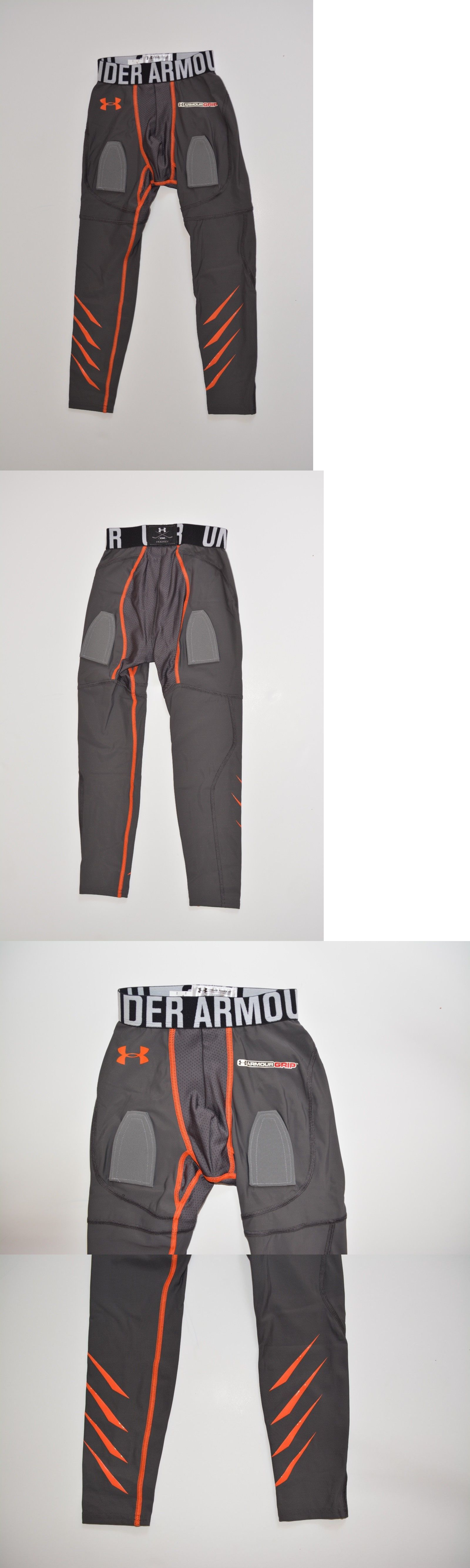 b33f044eb1f17b Compression and Base Layers 179828: Under Armour Boys Hockey Gray Grip  Compression Leggings Pants Youth Small -> BUY IT NOW ONLY: $40 on eBay!