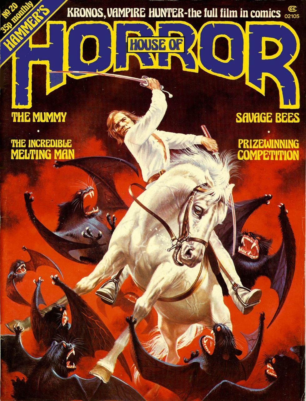 Hammer House of Horror cover featuring Captain Kronos: Vampire Hunter