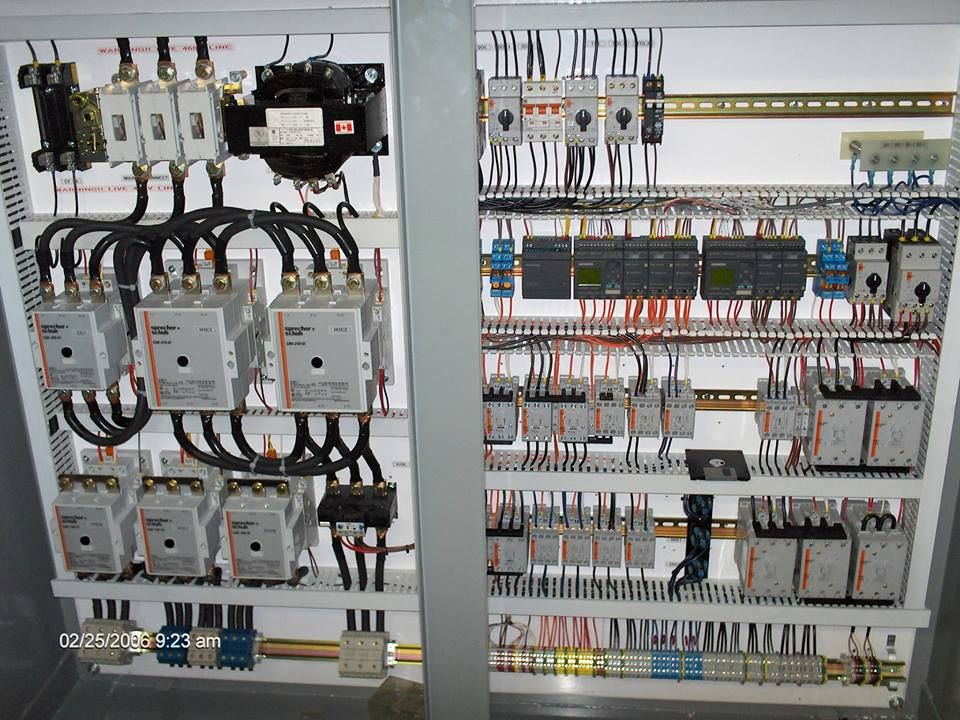 Electrical Panel For Controlling The Tower Crane
