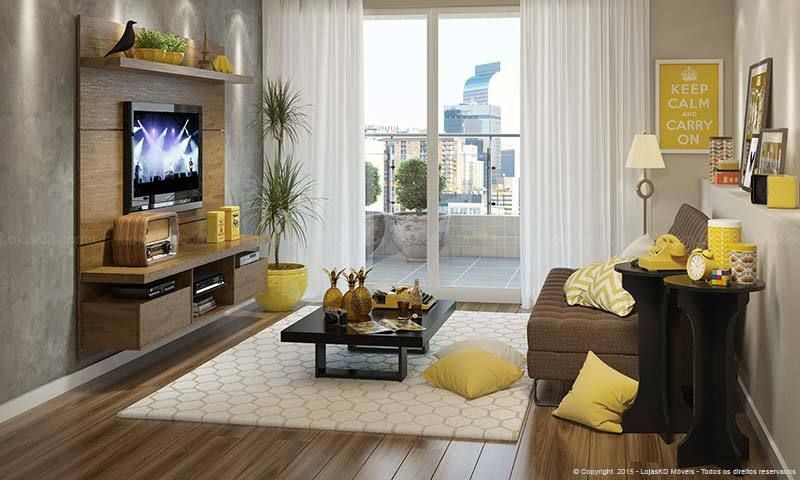 Sofa Para Sala Pequena Casas Bahia ~ Conjunto para Sala de Estar com Estante Home Theater, Mesa de Centro e
