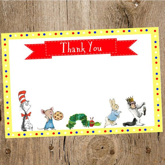 Welcome to Top That! Designs This is a printable thank you card - baby shower thank you notes