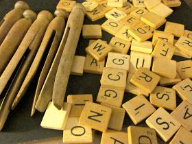 homeroad: Scrabble Clothespin Ornaments