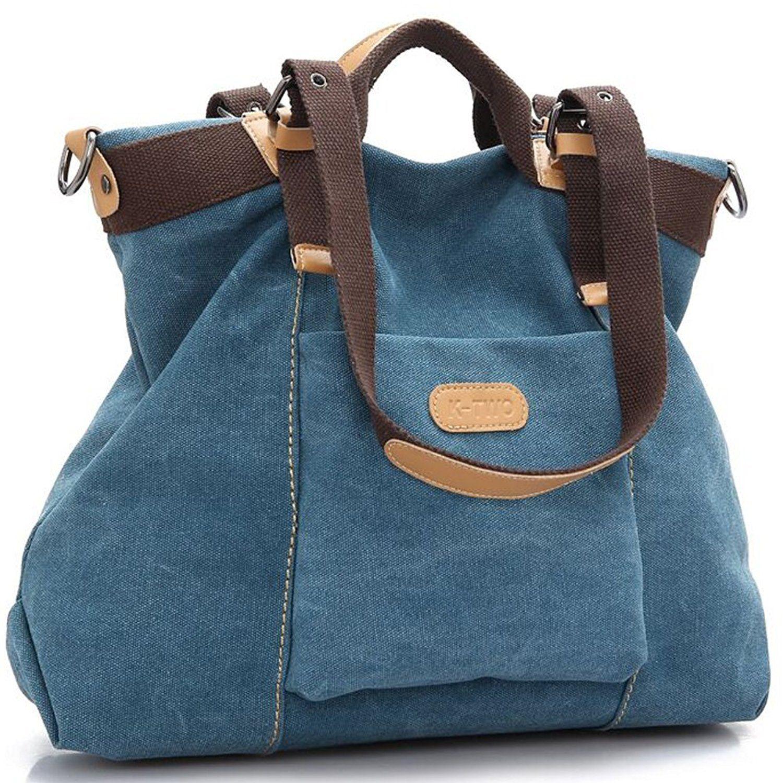 Women Shoulder bags Casual Vintage Hobo Canvas Handbags Top Handle ... a42d70097c
