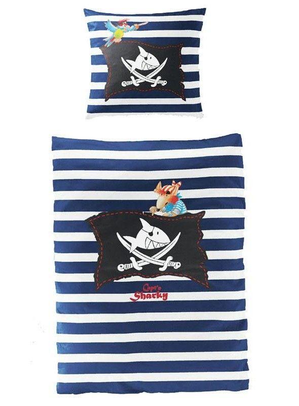 Sharky Capt N Kapitein Piraat Dekbed Overtrek
